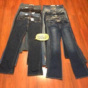 Lot of 10 Earl, BKE Denim Jeans